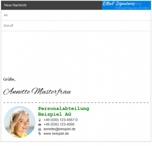 GMail Signature Template